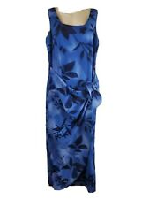 Dressbarn Womens  Size 8 Dress Blue Floral Sleeveless