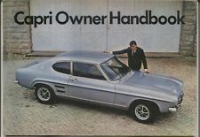 Ford Capri Mk 1 1300 & 1600 GT 1969 Original Owner Handbook No.CG180/563060
