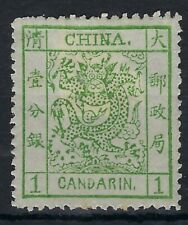 China 1878-83 Large Dragon 1ca hinged mint, tones in gum