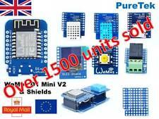 Latest ESP8266 WeMos D1 Mini V3, V2, Pro, Lite, ESP32, Clones & Shields