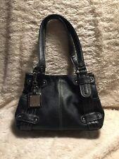 TIGNANELLO Women's Pebble Black Leather Hobo Tote Handbag Bag Purse