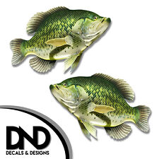 """Crappie - Fish Decal Fishing Tackle Box Bumper Sticker """"5in SET"""" F-0110 D&"""