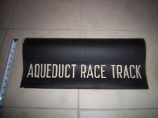 1377b822a AQUEDUCT RACE TRACK NYC SUBWAY SIGN BMT IND ROLL SIGN URBAN YONKERS  GAMBLING NY