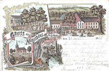 Gruss aus Möbisburg b. Erfurt ,Kirche, Restaurant 1898 Litho Postkarte