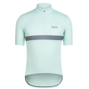NEW Rapha Men's Cycling Jersey XS Classic Short Sleeve Club Light Blue RCC 3M
