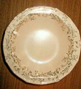 Vintage Shabby and Chic TST Dessert Bowl Pink 22 Carat Gold Ornate Detailing