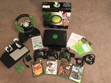xbox classic Bundle original box with Racing Wheel, Controllers, Halo And More!