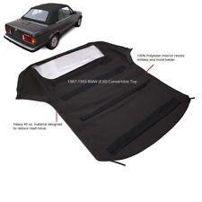 BMW 3-Series E30 Convertible Soft Top & Plastic Window 1986-1993 Black Twill