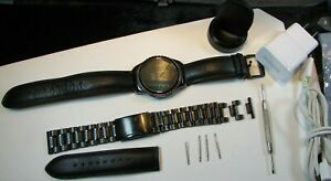 Samsung Galaxy Gear S2 42mm Stainless Steel Case 316L & extra Leather band WORKS