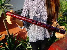 NATIVE AMERICAN STYLE FLUTE MAHOGANY WOOD  SOLID REDDISH KEY OF (G) Ret$250  NEW