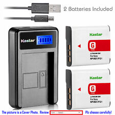 Kastar Battery LCD USB Charger for Sony NP-BG1 NP-FG1 & Sony Cyber-shot DSC-W55