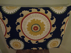 Decorative Pillow Cover Navy Blue Yellow Beige Red Green Geometric Patterns