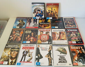 17 Bulk Lot DVDs, Wedding Crashers, Full Metal Jacket, Star Wars, Roger Dodger