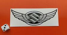 Suzuki ailes casque moto autocollant 120mm x 40mm