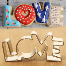 Stainless Steel Cookie Cutter LOVE Letter Shape Forms Biscuit Mold Fruit Mould