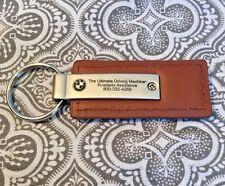 BMW of Minnetonka Brown Leather Car Keychain Original Never Used New #235