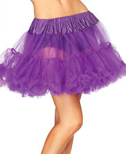 Leg Avenue Layered Tulle Petticoat One Size Purple