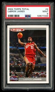 2004 Topps Total - LeBron James #4 - PSA 9 Mint - 2nd Year LeBron - Lakers