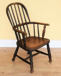 Elm Windsor Childs Armchair