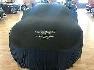 Aston Martin Works Silk 'Reveal' Car Cover in Black with Silver Wings Logo
