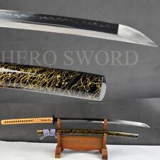 unokubi zukuri O-kissaki Japanese samurai katana sword Clay tempered T1095 Steel