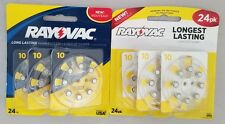 (48 Pack) Rayovac Size 13 Longest Lasting Hearing Aid Batteries - 12/2018 - 2020