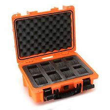 Invicta 8 Slots Impact Diver Box ORANGE Impact Resistant Case Waterproof-RARE