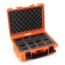 Invicta 8 Slots Impact Diver Box ORANGE Impact Resistant Case Waterproof-RARE
