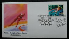 USA  First Day Cover issue 1992 - Winter Olympics