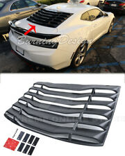 ABS Plastic Rear Window Louver Sun Shade Cover Fits 16-Up Chevrolet Camaro Coupe