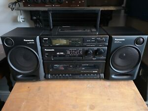 Panasonic RX-DT610 Portable Stereo Component CD System Radio Cassette...