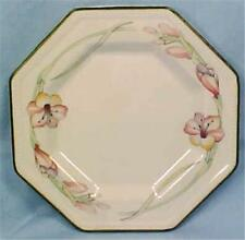 Johnson Brothers Sandringham Bread Plate Stoneware Pink Flowers Green Edge