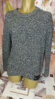 SUPERDRY WOOL BLEND MENS CREW NECK knit JUMPER warm PULLOWER SIZE MEDIUM M DI