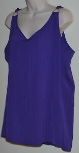 City Chic plus size sleeveless purple top Size L