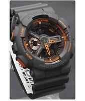 GA-110TS-1A4 Black Casio G-Shock 200m Analog Digital Light X-Large Watch  New