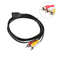 NE_ DOONJIEY USB A Female to 3 RCA Male Audio Video AV Adapter Cable for PC TV S
