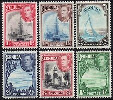 BERMUDA 1938[only] George VI Definative Issue sg 110-5 mint hinged*