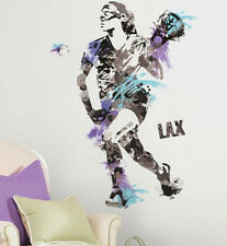 LACROSSE Woman CHAMPION PLAYER sports wall stickers MURAL 9 decals girl decor