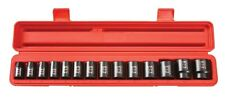 TEKTON 1/2 in. Dr. Shallow Impact Socket Set (11-32mm) 12 pt. CrV 48171 NEW