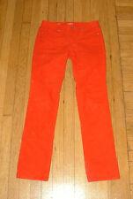 ANN TAYLOR LOFT Sz 25/0 Red Lightweight MODERN Straight Fit Corduroy Pants EUC!