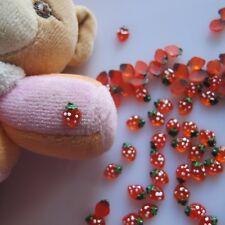 30pcs Cute Resin Strawberry Decoration Nail Art Decoration RC-169-3