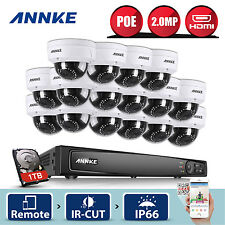 ANNKE 16CH 6MP HD NVR 16x 1080P IP Network POE Camera 3D DNR Security System 1TB