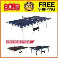 Indoor-Outdoor Play MD Sports 4 Piece Table Tennis Ping Pong Kids Fold-Up 9'x5'