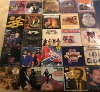 Lot of 25 Country Vinyl LP Johnny Cash Waylon Jennings Willie Nelson 7X Alabama