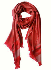 Red Flower Silk Scarf Wrap Pashmina Shawl Scarves Cover Cape Soft Free Ship New