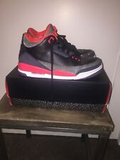 Air Jordan III 3 Crimson Retro size 9.5 2012 Infrared