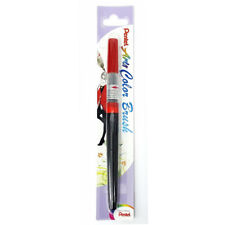 Pentel Arts XGFL-102 Refillable Calligraphy Fude Color Brush Pen - Red [Xmas]