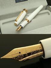"Montegrappa ""FORTUNA"" Fountain Pen, NIB: Rose Gold Plated / F, White, MRSP 250$"