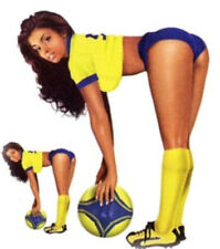 Pegatina Fútbol spielerin azul amarillo Pin Up Girl SOCCER YELLOW Adhesivo