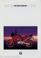 BMW F650 Funduro Prospekt 9/93 1993 Motorradprospekt Broschüre brochure Motorrad